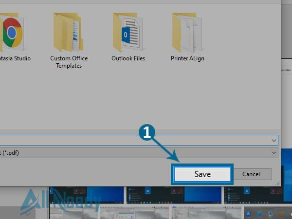 How to Convert JPG into PDF on Windows 10 - Select a Name to Save as PDF
