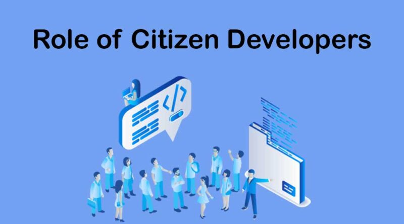 Role of Citizen Developers in no-Code and low-Code Setting